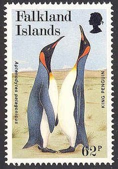 Stamp: King Penguin (Aptenodytes patagonica) (Falkland Islands) (World Wildlife Fund) Mi:FK 638 British Overseas Territories, King Penguin, Little Birds, Stamp Collecting, Postage Stamps, Science Nature, Wildlife, Island, World