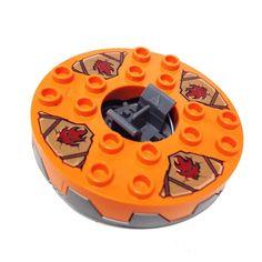 Lego Parts: Turntable 6 x 6 Kendo Kai - Snake Battle (Ninjago Spinner)