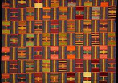 Ewe Kente Cloth Ewe people, Ghana, mid-20th cent. 14-strip cotton kente cloth