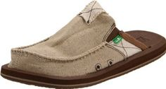 Sanuk Men's You Got My Back II Loafer Sanuk. $58.25. Canvas; Rubber sole; Textile Lining; AEGIS Antimicrobial additive; Happy U Outsole; Super Soft, High Rebound, Molded EVA Footbed; Handmade Canvas Upper
