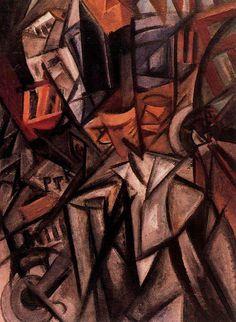 Olga Rozanova - Homme dans la rue (Futurisme) Italian Futurism, Russian Avant Garde, 21 June, Art Forms, Painters, Moscow, Lab, Concept, Texture