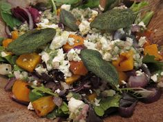 Banana Wonder: Roasted Pumpkin and Feta Salad with Sage Vinaigrette. This is what I have been looking for!!!!