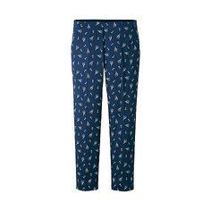 WOMEN Satin Print Ankle Length Trousers