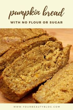 How to make an easy pumpkin bread recipe from scratch. This moist and healthy homemade recipe is easy to make in a blender, so there's minimal clean up. It's a healthier recipe with oatmeal, so it's f Healthy Pumpkin Bread, Diabetic Pumpkin Bread Recipe, Pumpkin Recipes Low Calorie, Pumpkin Recipes Sugar Free, Recipes With Canned Pumpkin, Easy Healthy Bread Recipe, Easy Canned Pumpkin Recipes, Gluten Free Pumpkin Bread, Pumpkin Banana Bread