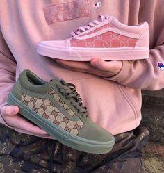 shoes, fashion, and vans image - SupperFashion Gucci Shoes, Gucci Gucci, Vans Sneakers, Sneakers Fashion, Fashion Shoes, Work Sneakers, Gucci Sneakers, Gucci Fashion, Designer Shoes