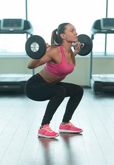 squats: Just like the overhead press, instead this time stick to bringing the barbell down to the back of your neck and squat down slowly even as you bring the weights down. This technique effectively builds up your legs.