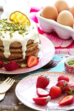 Can we all agree that pancakes are the best excuse ever to have cake for breakfast? Especially when you top them with a healthy equivalent to cream cheese frosting… It was pancake Saturday at our house this weekend ~ my kids woke up and they wanted to prepare breakfast with me. I love spending time …