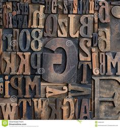 Wooden Printers Typeface Letters - Download From Over 45 Million High Quality Stock Photos, Images, Vectors. Sign up for FREE today. Image: 34884481