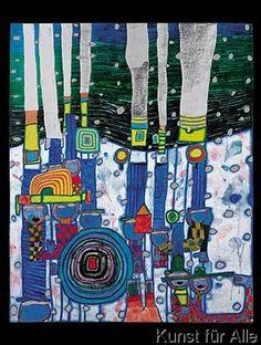 Friedensreich Hundertwasser - Blue Blues