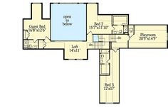 Three Levels of Luxury - floor plan - Second Level Guest Suite, Master Suite, Huge Bedrooms, Large Bathrooms, Craftsman House Plans, Best House Plans, Good House, Fireplace Wall, Workout Rooms