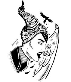 Maleficent (Tattoo Inspiration) by @possvnte