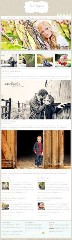 clean photography style premium WordPress child theme