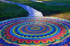 Mandala designed path