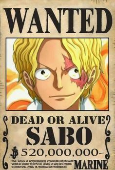 Woah Sabo is worth more than Luffy. One Piece Manga, Sabo One Piece, One Piece Luffy, Otaku Anime, Manga Anime, One Piece Bounties, One Piece Seasons, One Piece English, Ace Sabo Luffy