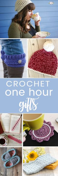 Crochet these easy free patterns to make in 1 hour or less! Easy beginner quick free pattern roundup