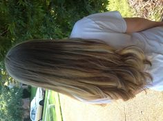 Brown to blonde ombre hair. Love it!