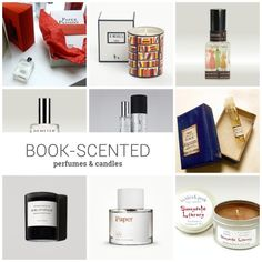 Book-scented perfumes and candles
