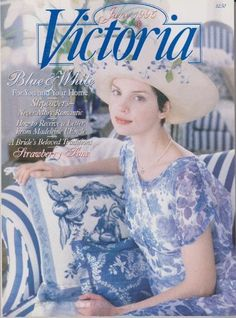 Victoria Magazine June 1995 - Blue & White