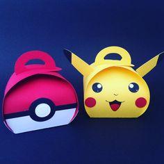Pokemon favor boxes by PaperBottega on Etsy Pokemon Birthday, Pokemon Party, Art For Kids, Crafts For Kids, Pokemon Craft, Favor Boxes, Box Packaging, Keepsake Boxes, Craft Fairs