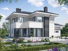 Small Contemporary House Plans, Modern Barn House, Modern House Design, Villa Design, Facade Design, Exterior Design, Two Story House Design, 2 Storey House Design, Home Building Design