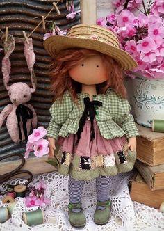 Pretty Dolls, Cute Dolls, Beautiful Dolls, Doll Toys, Baby Dolls, Softie Pattern, Doll Tutorial, Waldorf Dolls, Doll Hair