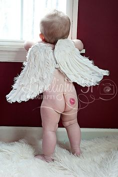 Are fat ass angels as effective as healthy ones? I know they're both magical beings, but do you really want a chunky, lardass angel with no clothes (and a winkie that makes you uncomfortable) to rescue your life? Valentine Picture, Valentines Day Baby, Valentines Day Photos, Valentine Mini Session, Cute Baby Photos, Baby Boy Pictures, Photos Saint Valentin, Foto Baby, Newborn Baby Photography