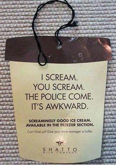 ice cream...i love creative advertising
