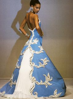 Sonia Cola at Jean Louis Scherrer Haute Couture 1993
