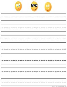 Free Printable Lined Writing Paper | Free printable primary lined and regular lined writing paper for ...
