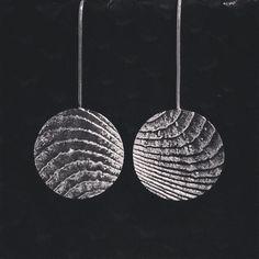 Sterling silver cuttlefish cast earrings