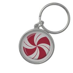 Peppermint Swirl Stripe Candy Keychains    *This design is available on t-shirts, hats, mugs, buttons, key chains and much more*