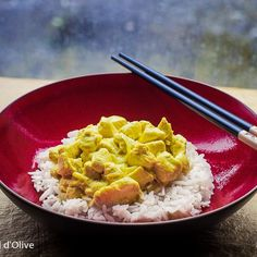 Le poulet curry coco express