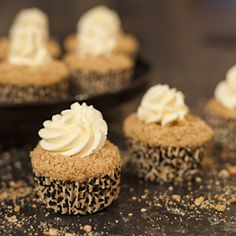 Banoffee Pie Cupcakes. Banana sponge, toffee creme patissiere, a slice of fresh banana, cookie crumbs and a crown of whipped cream.