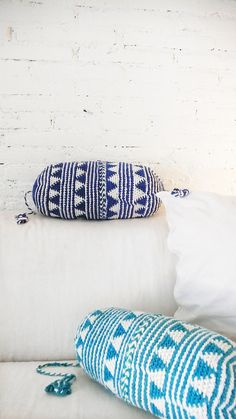Pillow Crochet Marrakech    navy blue by lacasadecoto on Etsy, €26.00