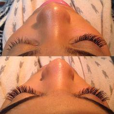 Envious #Lashes Glamorous Diva full set.  NYC top rated #eyelash extension salon www.enviouslashes.com