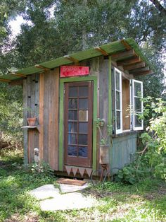 shed made from recycled materials
