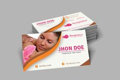 Spa & Beauty Salon Business Card by Dotnpix on Creative Market