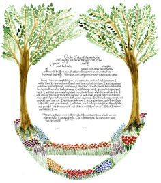The Ketubah Maven: Uniquely Designed, Handcrafted, Jewish and Interfaith Wedding Contracts Marriage Certificate, Fantasy Island, Fantasy Wedding, Bible Art, Illuminated Manuscript, Creative Words, Vows, Art Lessons, True Love