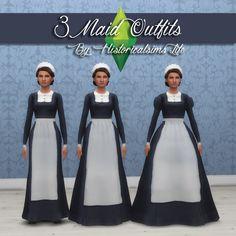 3 Maids Uniforms  [#ts4_adult_hat]  [#ts4_adult_fullbody]