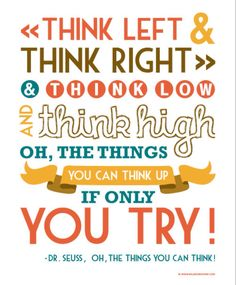 Another amazing quote by Dr Suess.