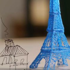 3Doodler, a 3D-printing pen, allows users to draw three-dimensional objects in the air or on surfaces.