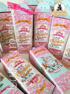 Cajas para Cotillones Infantiles Personalizados (Tea Party)   Lythium Art®