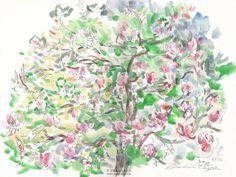 Magnolienbaum in Blüte von Kunstwelt auf Etsy, €320.00