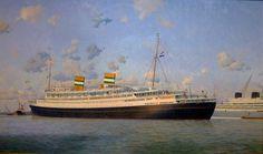 Foto's aan boord van de Nieuw Amsterdam Holland America Line, Shore Excursions, Cruise Travel, Ways To Travel, Rotterdam, Automobile, Container, Ship, Artwork