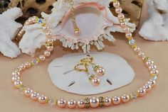 Bridal Jewelry Pearl Set 14k Gold Filled by ornatetreasures, $99.00