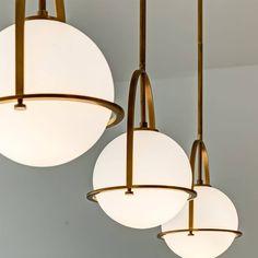 Art Deco Pendant Light, Globe Pendant Light, Pendant Lights, Kitchen Ceiling Lights, Kitchen Pendant Lighting, Art Deco Kitchen, Hinkley Lighting, Co Working, Interior Lighting