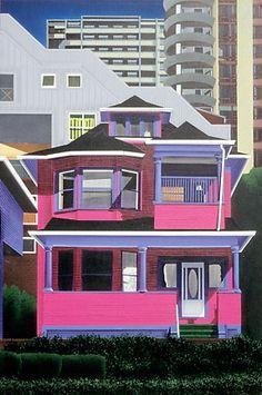 Canadian artist David Thauberger.  West end Vancouver.
