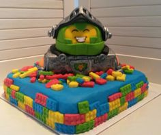 Lego nexo knights taart