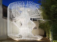 """""""La Cage aux Folles"""" architectural folly combines pipe bending with digital fabrication 