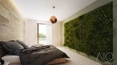 Master bedroom with natural lichen